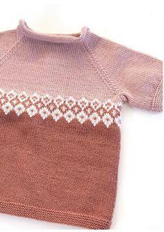 Garnpakke: Hentesett - Knitting Inna Knit Crochet, Pullover, Denim, Knitting, Sweaters, Fashion, Caps Hats, Dots, Tejidos