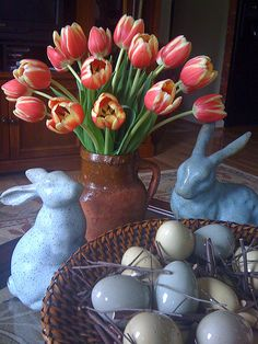 Nothing says spring more then this Easter Tulip arrangement.