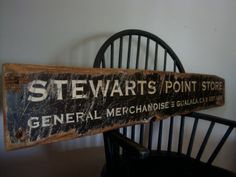 Rustic Distressed Stewarts Point Store General Merchandise Grocery Pharmacy Wood Sign Gualala CA California