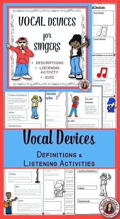 Music lessons | Chorus | VOCAL DEVICES - Explanation, Listening Activity and Quiz! ♫ CLICK through to read more or save for later! ♫ #musiceducaton