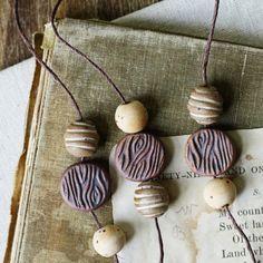 earthy neutrals bead set