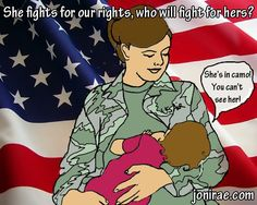 #breastfeeding in uniform.