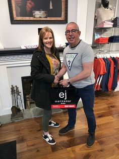 💃🏻 Dancing To Victory 💃🏻  Pictured here is competition winner Cait Keavney along side EJ in a t-shirt two sizes to small for him 😉 Cait was the successful winner of our Fionn Mc Morrow competition in which she picked up over €500 worth of vouchers. Along with ourselves and EJs Little Sister a massive thanks to Centra Castle Street, Fiddlers Creek Bar And Restaurant And Lilles cocktail bar for their contributions👏🏻 Competition Time, Little Sisters, Victorious, Dancing, Castle, Cocktail, Menswear, Restaurant, Bar