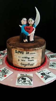Love is ..... - Cake by CAKE RAGA