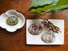 色づく前の山牛蒡も美しい。#刺繍#手刺繍#ハンドメイド#花#ブローチ#ハンドメイドアクセサリー #自然#秋#マカベアリス#embroidery #embroideryart #brooch #autumn #nature #handmade #accessory #alice_makabe
