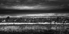 Cerrillos Hills http://mabrycampbell.com #image #photo #mabrycampbell #photography #landscape #newmexico #blackandwhite #dark #moody #mountains #storm