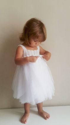 Baby-Tüll-Kleid mit Empire-Taille und Stretch von AylinkaShop