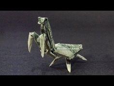 Money Origami PRAYING MANTIS - Dollar Bill Art