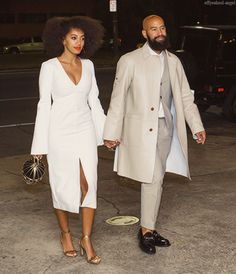 Beyoncé Attends Solange Knowles' Pre-Wedding Party Without Jay Z and Blue Ivy Solange Knowles, Alan Ferguson, Solange Wedding Couple Style, Pre Wedding Party, Wedding Weekend, Wedding Rehearsal, Wedding Dinner, Solange Knowles Wedding, Wedding Movies, Stylish Couple, Before Wedding