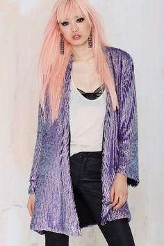 Essentiel Galaxy Sequin Jacket | Shop Clothes at Nasty Gal!
