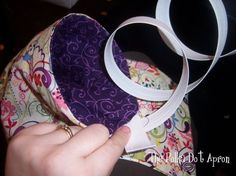 Pin cushion with Thread Catcher. For pattern, see The Polka Dot Apron: Thread Catcher Tutorial