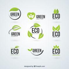 Logotipos da ecologia Vetor grátis