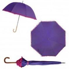 Bombay Duck Pom Pom Umbrella - Purple