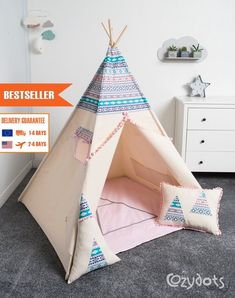 image 0 Kids Teepee Tent, Teepees, Indian Teepee, Play Equipment, My Room, Art For Kids, Kids Room, Toddler Bed, Projects To Try