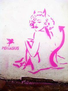 Street art : Pegasus - street art