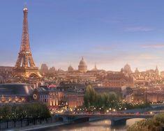 La Tour Eiffel à l'aube
