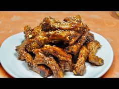 Korean Food, Chicken Wings, Appetizers, Meat, Korean Cuisine, Appetizer, Entrees, Hors D'oeuvres, Side Dishes
