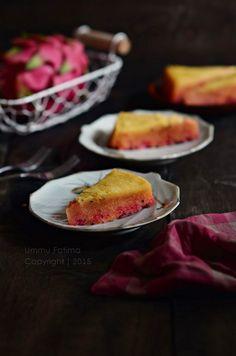 Simply Cooking and Baking...: Cake Kukus Buah Naga Merah (Gluten Free)