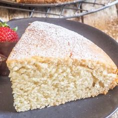 Easy Yogurt Cake - Any flavour yogurt makes this cake different everytime! Desserts For A Crowd, Easy Desserts, Delicious Desserts, Easy Yogurt Cake Recipe, Baking With Yogurt, Greek Yogurt Cake, Yogurt Dessert, Cooking Cake, Dessert Cake Recipes