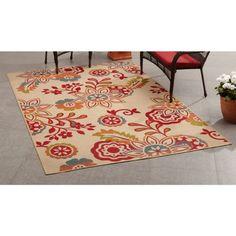 Mainstays Outdoor/Indoor Bright Floral Rug, Multicolor