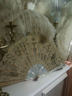 Rosemary Cathcart Antique Lace and Vintage Fan