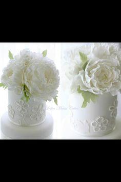 Mini tarta con flores