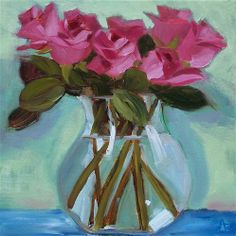 """""""Pink Parade"""" - Original Fine Art for Sale - © Azra Iqbal"""