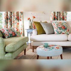 Шторы Sanderson #fabrics #textiles #ткани #sanderson #roses #шторы #пошив_штор #шторы_на_заказ #идеал_интерьер #арбат