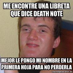 Resultado de imagen para death note libreta meme