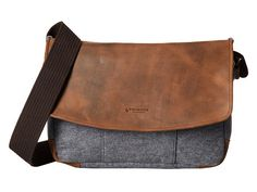 Burnished leather and felt messenger bag from Timbuk2. #mens #bags #accessories