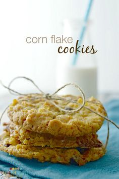 This time of year you'll find cookies every which way you turn.  But what about unique cookie recipes?  Here's a great recipe for cornflake cookies!