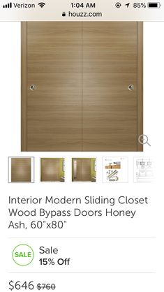 Bedroom Closet Doors, Master Closet, Modern Interior, Wood, Walk In Closet, Woodwind Instrument, Timber Wood, Modern Interiors, Wood Planks