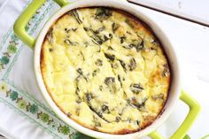 An easy egg dish with spinach. Quiche Recipes, Potato Recipes, Pork Recipes, Veggie Recipes, Cheap Family Meals, Cheap Meals, Meals For One, Cheap Recipes, Vegetarian Meals For Kids