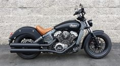 2015 Indian Motorcycle Scout with Ceramic coated stock pipes, short turn signals.  Sweet little custom changes make a slick look