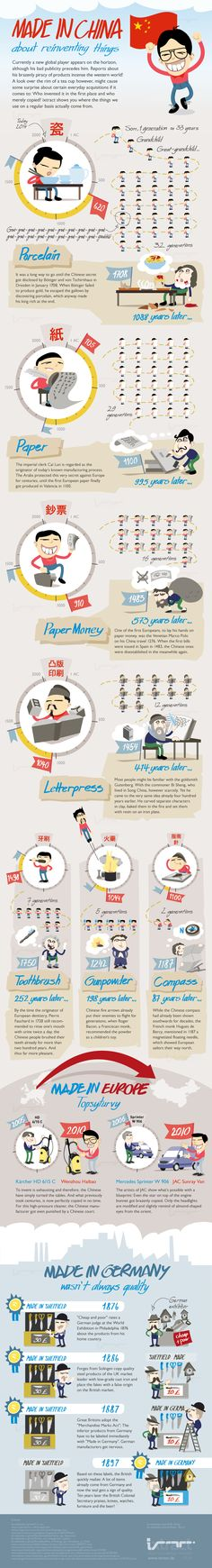 Made In China About Reinventing Things #China #Entertainment #Infographic