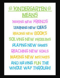 The Hands-On Teacher: Free Class Signs: Kindergarten Class Sign Education Quotes For Teachers, Teacher Blogs, Teacher Quotes, Teacher Resources, Education Posters, Teacher Stuff, Kindergarten Quotes, Kindergarten Classroom, Welcome To School