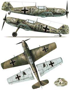 Messerschmitt Bf 109E3 5.JG3 (Black 11+-) Fritz Mias WNr 1155 Brombos Aug 1940