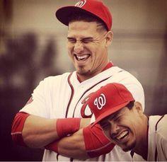 Wilson Ramos and Jose Lobaton laughin it up. Love it !