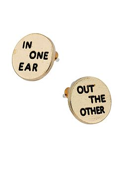 Quirky earrings!