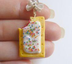 Toaster Pastry Miniature Food Necklace Pendant - Miniature Food Jewelry