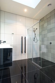#monochrome #bathroom in our Nelson Show Home