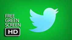 Free Green Screen - Glossy Twitter Animated Logo