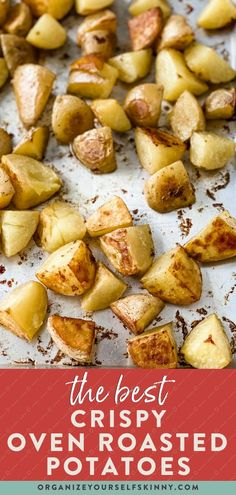 The Best Crispy Oven Roasted Potatoes | Healthy Vegetable Side Dishes - These no-fuss crispy oven roasted potatoes are a healthy side dish the entire family loves! They are fancy enough for Sunday supper yet easy enough to make during the busy work week. I'll even share my tips for making these roasted spuds on meal prep day! Organize Yourself Skinny | Healthy Recipes | Clean Eating | Healthy Eating Tips | How To Lose Weight | Healthy Meal Prep Recipes | Meal Prep for Beginners Healthy Freezer Meals, Healthy Meals For Two, Healthy Side Dishes, Easy Healthy Dinners, Eating Healthy, Healthy Dinner Recipes, Clean Dinner Recipes, Dinner Recipes Easy Quick, Meal Recipes