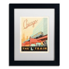 'Chicago L Train' by Anderson Design Group Framed Graphic Art