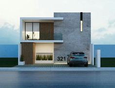 The modern home exterior design is the most popular among new house owners and those who intend to become the owner of a modern house. Minimal House Design, Modern Small House Design, Modern Exterior House Designs, Modern House Facades, Modern Architecture House, Minimalist Architecture, Exterior Design, Villa Design, Facade Design