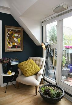 Set up your reading nook next to a window.