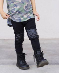 Hipster baby boy leggings / Black Baby by PoshKiddosapparel