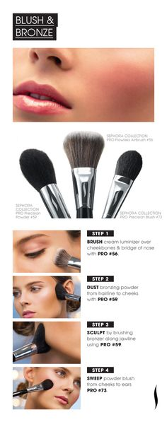 Beauty How To: Blush & Bronze  #Sephora #MostPopularPins #brushes