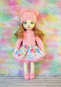 Textile doll, decorative doll, collector dolls, doll cotton, rag doll, art doll Height of the doll is 38 cm (15 inches) The doll is sewn of natural materials (cotton cloth) It is stuffed with non-allergenic polyester fiber in a smoke free home. Clothes are not removed Here you can see