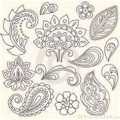 2 pages of free paisley clip art